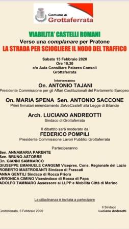 Grottaferrata, forum sulla viabilità del Nodo Squarciarelli