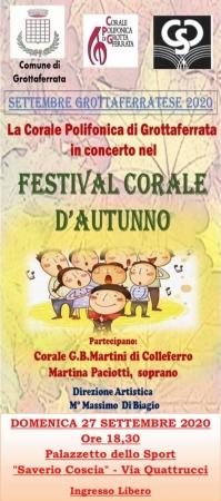 Concerto Corale, cambio sede: si canterà al Palazzetto dello Sport