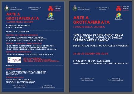 Arte a Grottaferrata, al via il cartellone di eventi della Consulta della Cultura