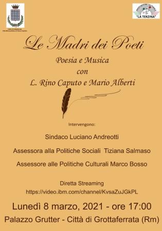 8 Marzo, le Madri dei Poeti protagoniste a Grottaferrata