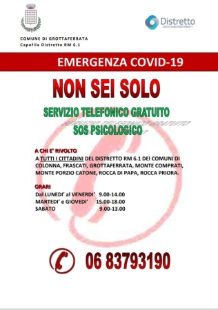Covid-19 Distretto Socio-Sanitario Rm 6.1 Sos Psicologico